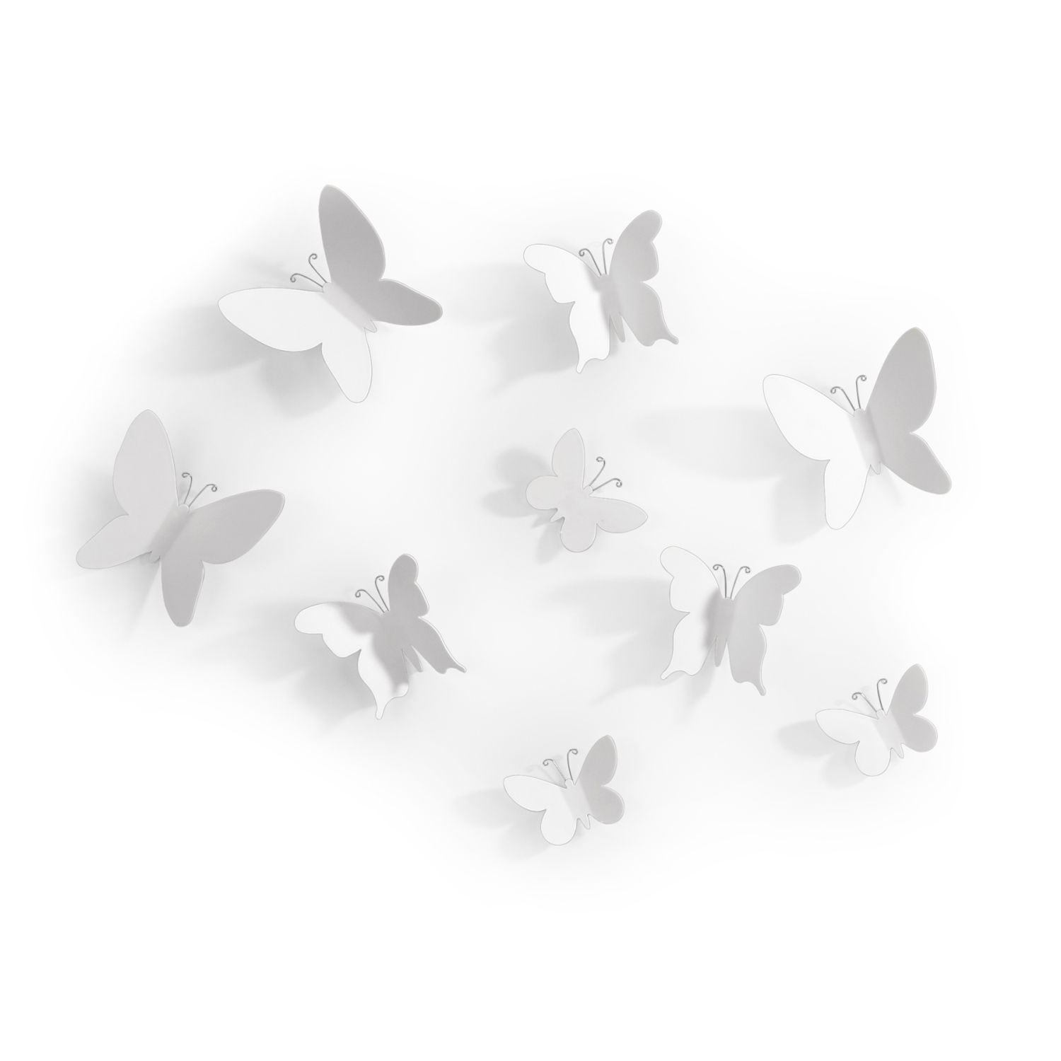 Umbra Pluff Wall Decor Set Of 9 : Umbra mariposa set of white