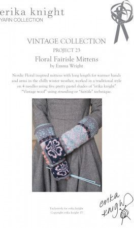 Mittens in Erika Knight Vintage Wool (Project 23)