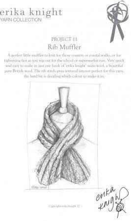 Muffler in Erika Knight Maxi Wool (Project 11)