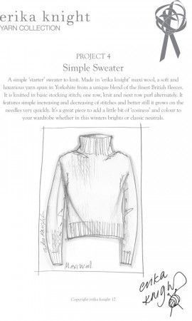 Simple Sweater in Erika Knight Maxi Wool (Project 4)
