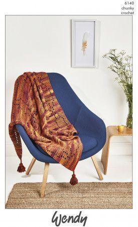 Blanket in Wendy Botanics Chunky (6140)
