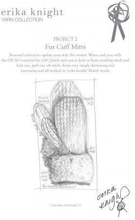 Fur Cuff Mitts in Erika Knight Fur Wool (Project 2)