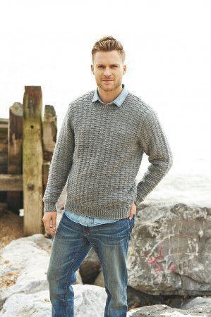 Round Neck Sweater in Stylecraft Life Aran (9022)