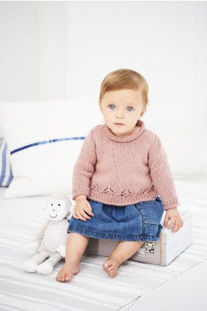 Jumper and Cardigan in Stylecraft Bambino DK (9606)