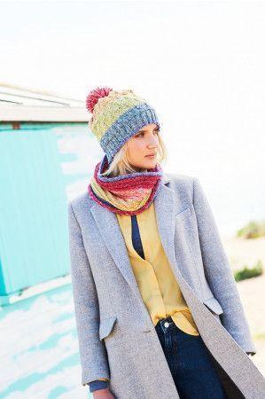 Sweater, Snood and Hat in Stylecraft Batik Swirl DK (9676)