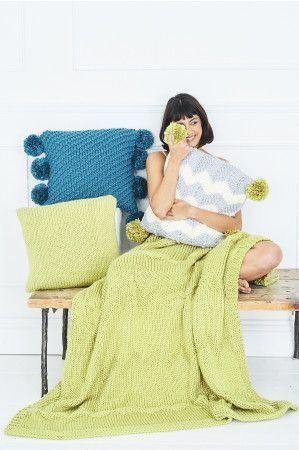 Blanket and Cushions in Stylecraft Special XL Super Chunky (9789)