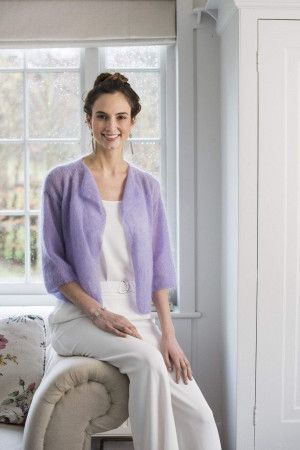 waterfall front edge to edge cardigan in mohair knitting pattern
