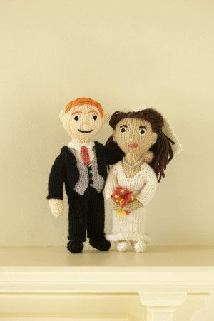 Harry and Meghan Bride and Groom Dolls Knitting Patterns