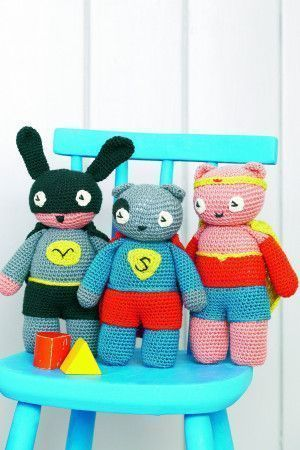 Amigurumi superhero inspired toys to crochet