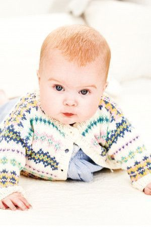Knitted Fair Isle cardigan for girls