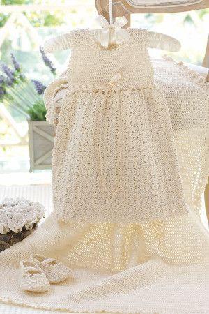 Baby Christening Set Crochet Patterns - The Knitting Network