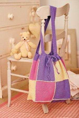 Baby Teddy Bear, Blanket And Bag Crochet Patterns