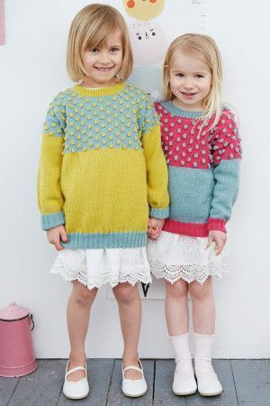 Knitted bobble jumper for girls