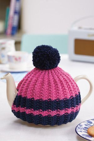 Bobble Top Tea Cosy Knitting Pattern - The Knitting Network