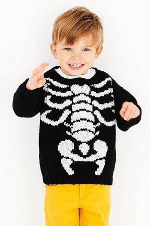 Boys Halloween Sweater Knitting Pattern