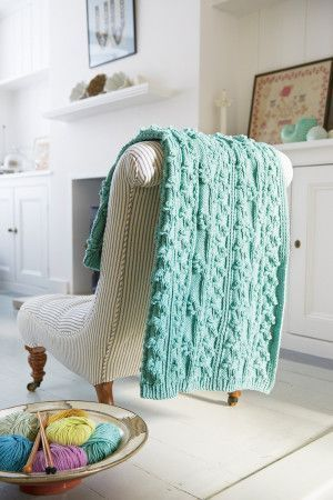 Bud And Branch Pattern Blanket Knitting Pattern - The Knitting Network