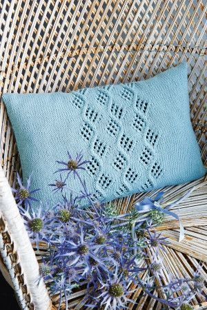 Cable Cushion Cover Knitting Pattern - The Knitting Network