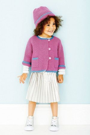 Childrens Jacket And Hat Knitting Patterns