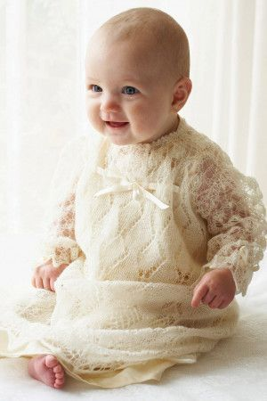 Christening Robe Knitting Pattern - The Knitting Network