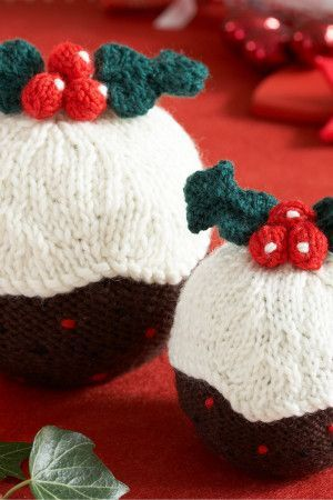 Christmas Pudding Decoration Knitting Patterns - The Knitting Network
