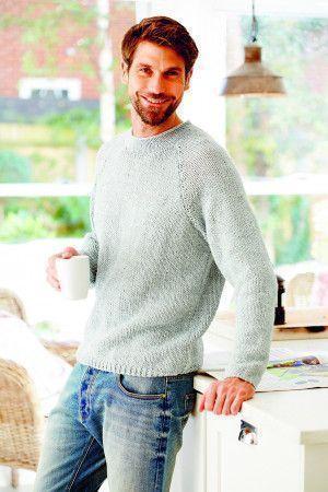 Chunky knitted men's jumper
