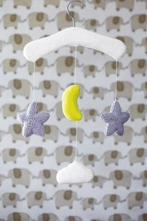 Cot Baby Mobile Knitting Pattern - The Knitting Network