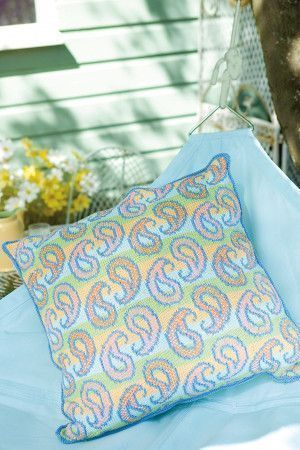 Cushion With Paisley Design Knitting Pattern - The Knitting Network