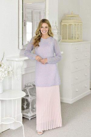 Ladies Longer length Mohair Raglan Tunic Knitting Pattern