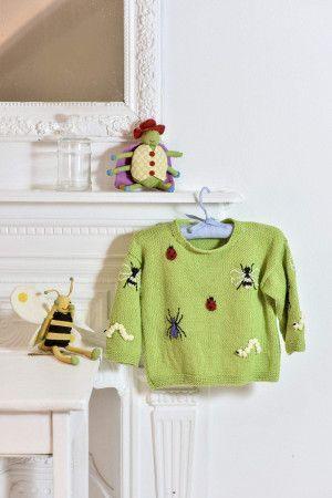 Child's Bug Sweater Knitting Pattern