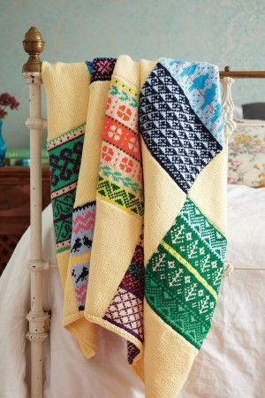 Fair Isle Blanket Knitting