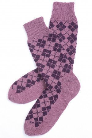 Classic retro Fair Isle knitted socks for a stylish man
