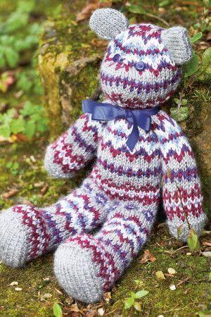 Fair Isle Teddy Bear Toy Knitting Pattern - The Knitting Network