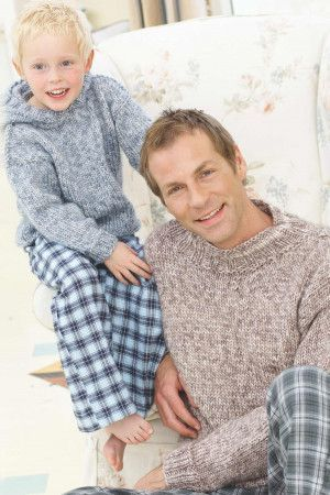 Easy knitted jumpers for men and boys