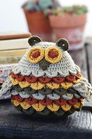 Crocodile Stitch Owl Crochet Pattern - The Knitting Network
