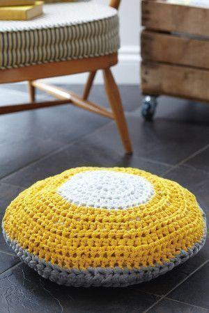 Floor Cushion Crochet Pattern - The Knitting Network