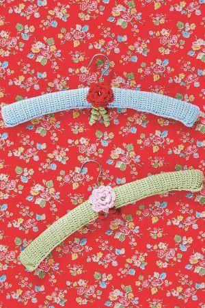 Floral Coat Hanger Cover Crochet Pattern - The Knitting Network