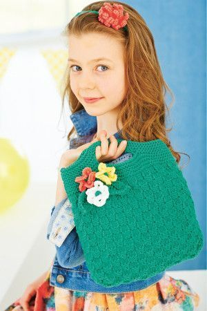 Flower Motif Girls Bag Knitting Pattern - The Knitting Network