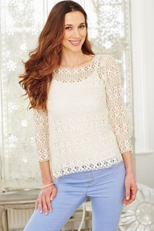 Flower Top Crochet Pattern  - FREE (enter SUMMER16 at checkout) - The Knitting Network