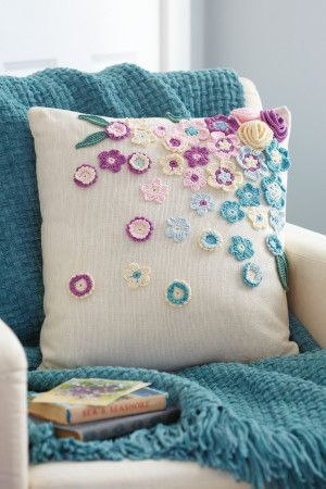 Flowers For Cushion Cover Crochet Pattern - The Knitting Network