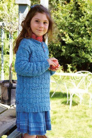 Girls Cable Stitch Tunic Knitting Pattern