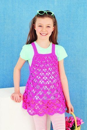 Girls Dress Crochet Pattern - The Knitting Network