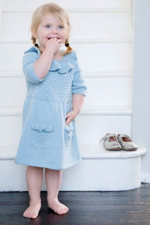 Girls Dress Knitting Pattern - The Knitting Network