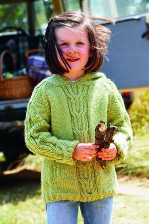 Girls Hoodie Top Knitting Pattern - The Knitting Network