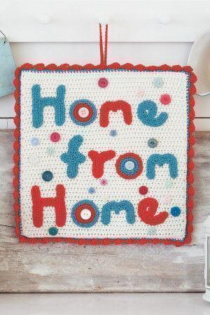 Home Sign Crochet Pattern