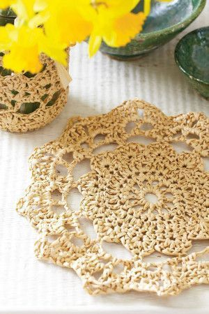 Crocheted place mat