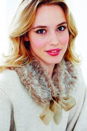 Fauz-fur knitted collar for women