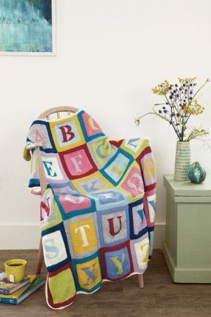 Alphabet Blanket Knitting Pattern