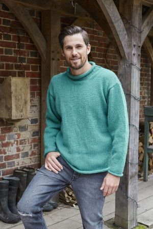 mens plain sweater with drop shoulder