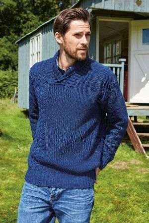 Mens Collar Sweater Knitting Pattern