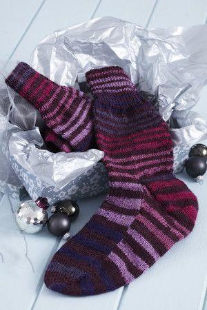Mens Stripy Socks Knitting Pattern
